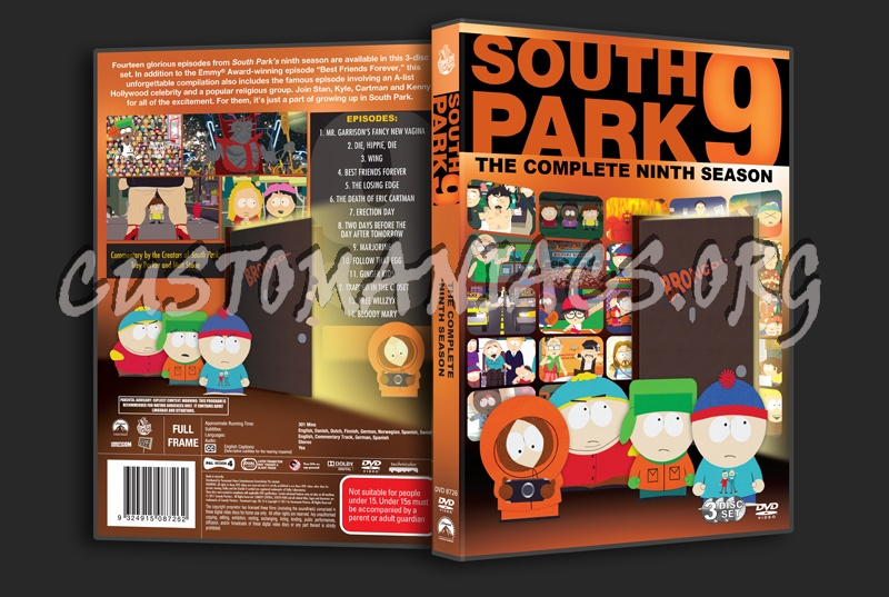 South Park Season 9 dvd cover - DVD Covers & Labels by Customaniacs