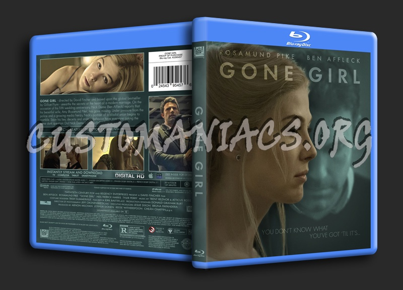 Gone Girl blu-ray cover