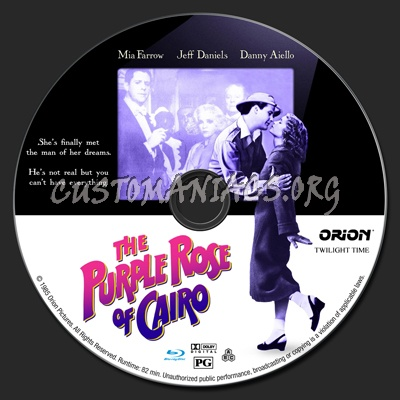 The Purple Rose of Cairo blu-ray label