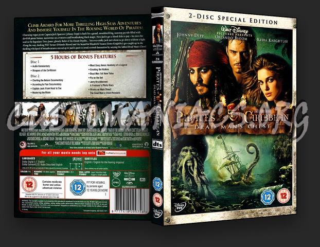 Pirates Of The Caribbean Dead Man's Chest dvd cover