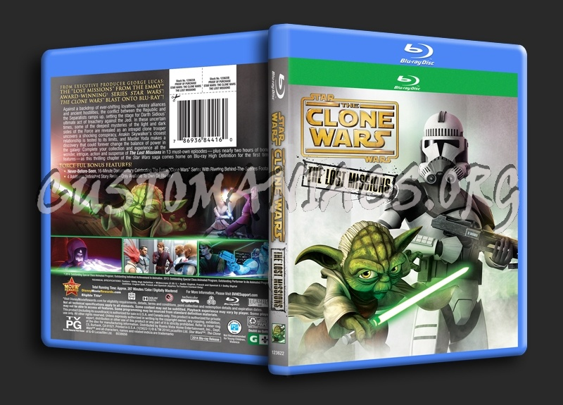 Star Wars The Clone Wars The Lost Missions Season 6 blu-ray cover