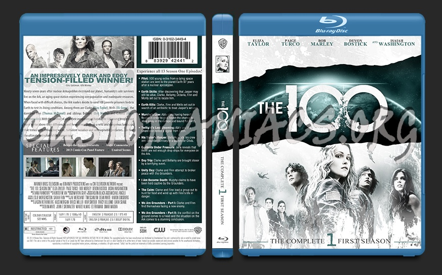 The 100 Season 1 blu-ray cover