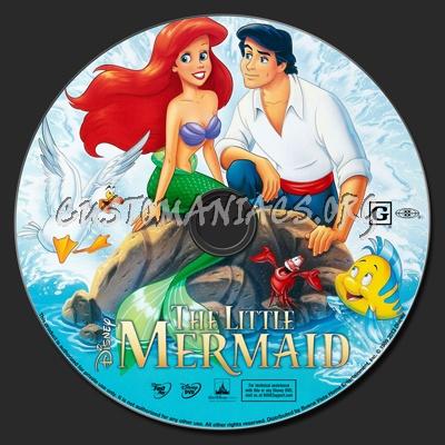 The Little Mermaid (1989) dvd label
