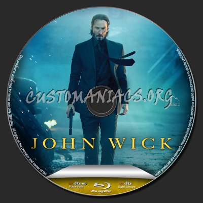 John Wick blu-ray label