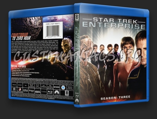 Star Trek Enterprise Season 3 blu-ray cover