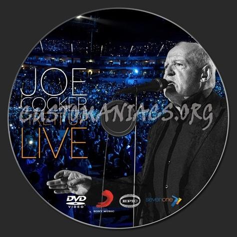 Joe Cocker Fire It Up Live dvd label