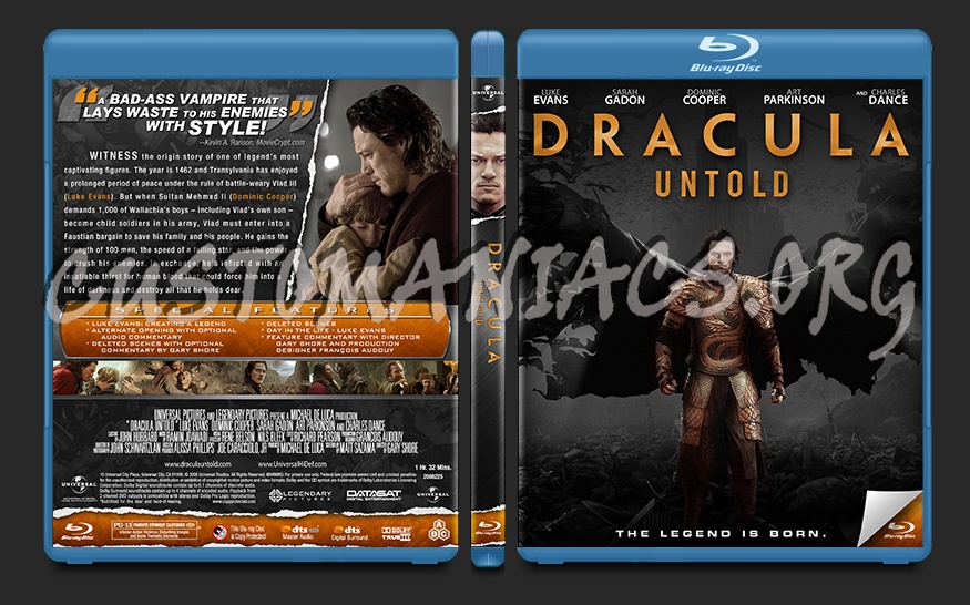 Dracula Untold blu-ray cover