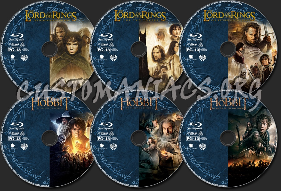 The Lord of the Rings / The Hobbit Collection blu-ray label