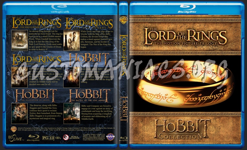 The Lord of the Rings / The Hobbit Collection blu-ray cover