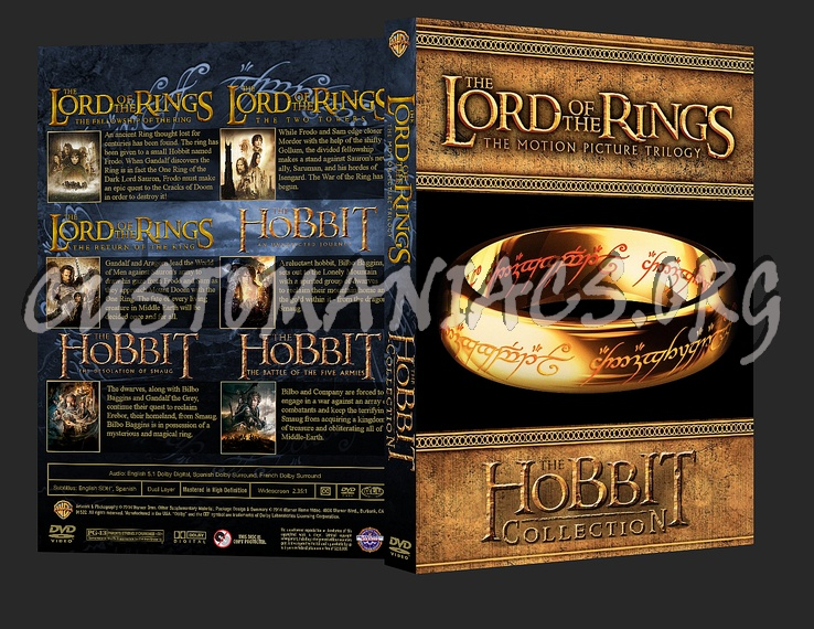 The Lord of the Rings / The Hobbit Collection dvd cover