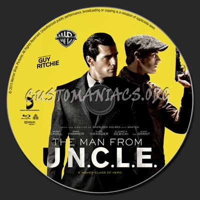 The Man From UNCLE (U.N.C.L.E.) blu-ray label