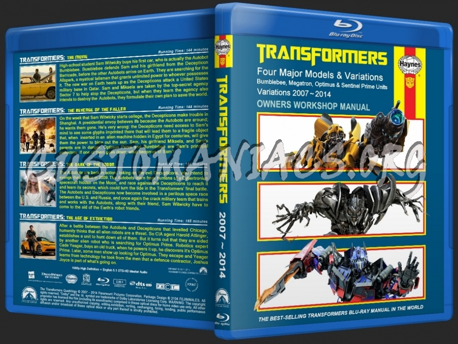 Transformers 1-4 Collection blu-ray cover
