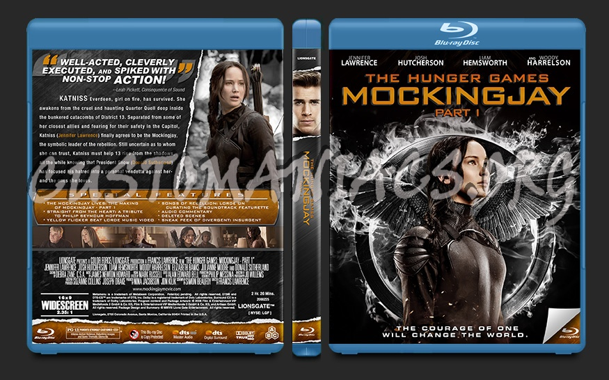The Hunger Games: Mockingjay - Part 1 blu-ray cover