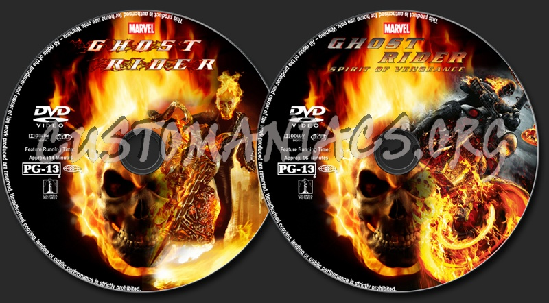 Ghost Rider Collection Dvd Label Dvd Covers Labels By