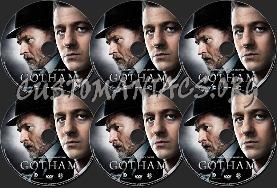 Gotham Season 1 Gotham Season 1 Dvd Label