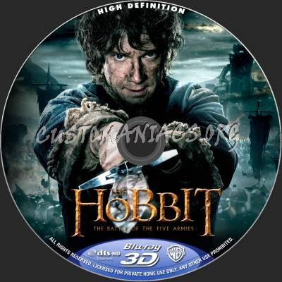 The Hobbit: Battle Of The Five Armies (2D+3D) blu-ray label