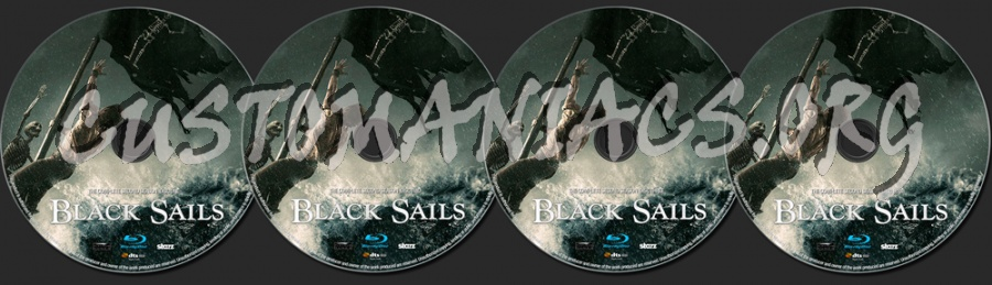 Black Sails Season 2 blu-ray label