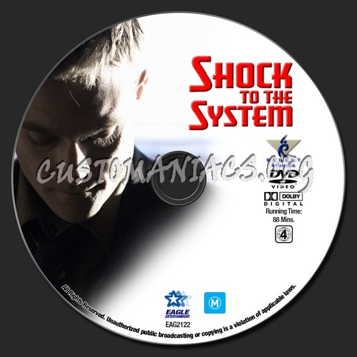 Shock To The System dvd label