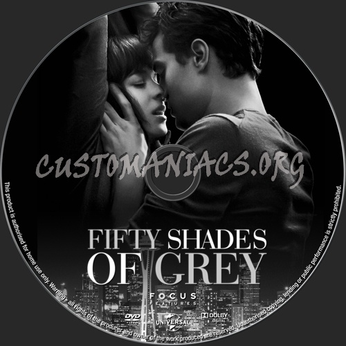 Fifty Shades Of Grey dvd label