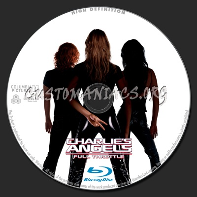 Charlie's Angels Full Throttle blu-ray label