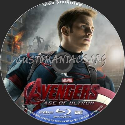 The Avengers - Age Of Ultron (2D+3D) blu-ray label