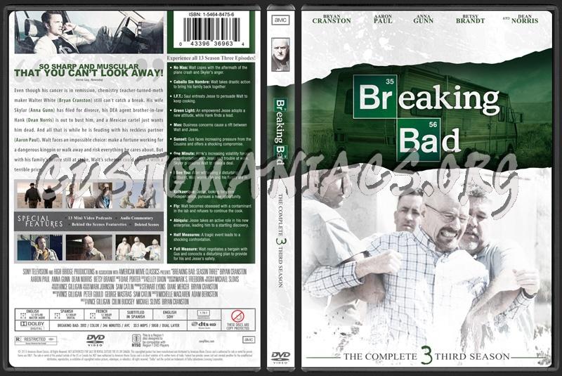 Breaking Bad Season 3 dvd cover