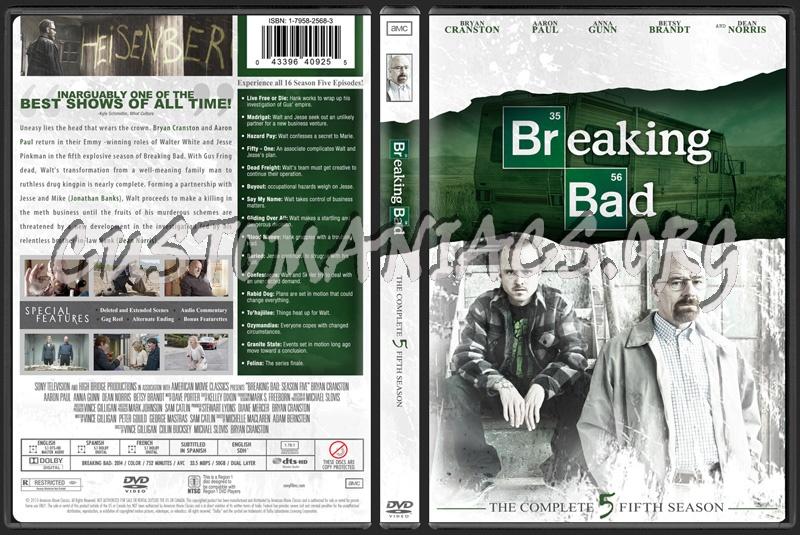 Breaking Bad Season 5 dvd cover
