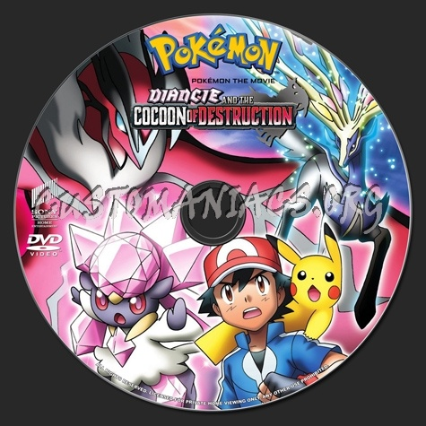 Pokemon Diancie And The Cocoon Of Destruction Dvd Label Dvd