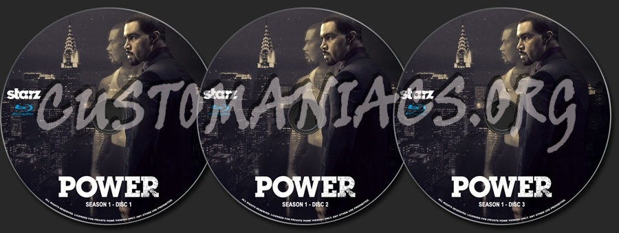 Power Season 1 blu-ray label
