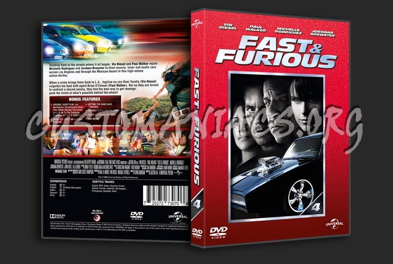 Fast & Furious 4 dvd cover - DVD Covers & Labels by ...