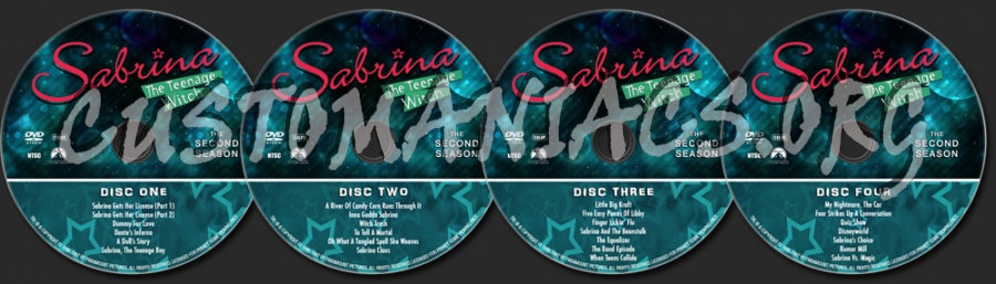 Sabrina The Teenage Witch - The Second Season dvd label