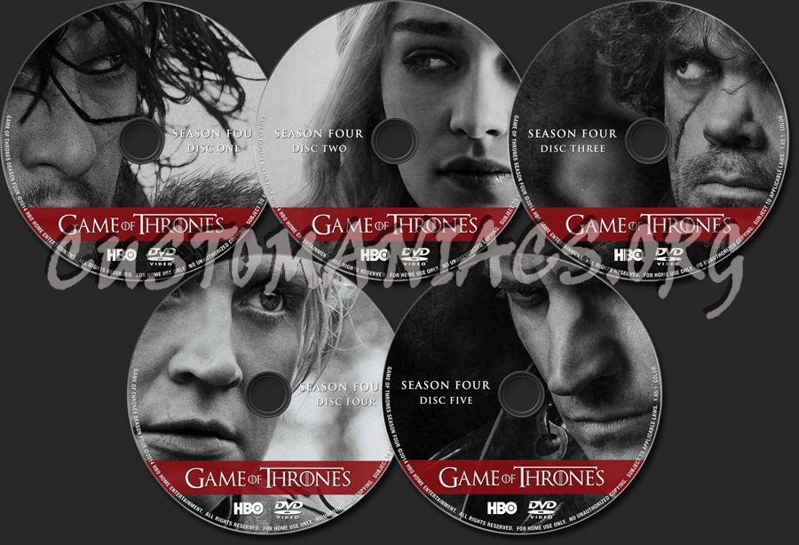 Game of Thrones Season 4 dvd label