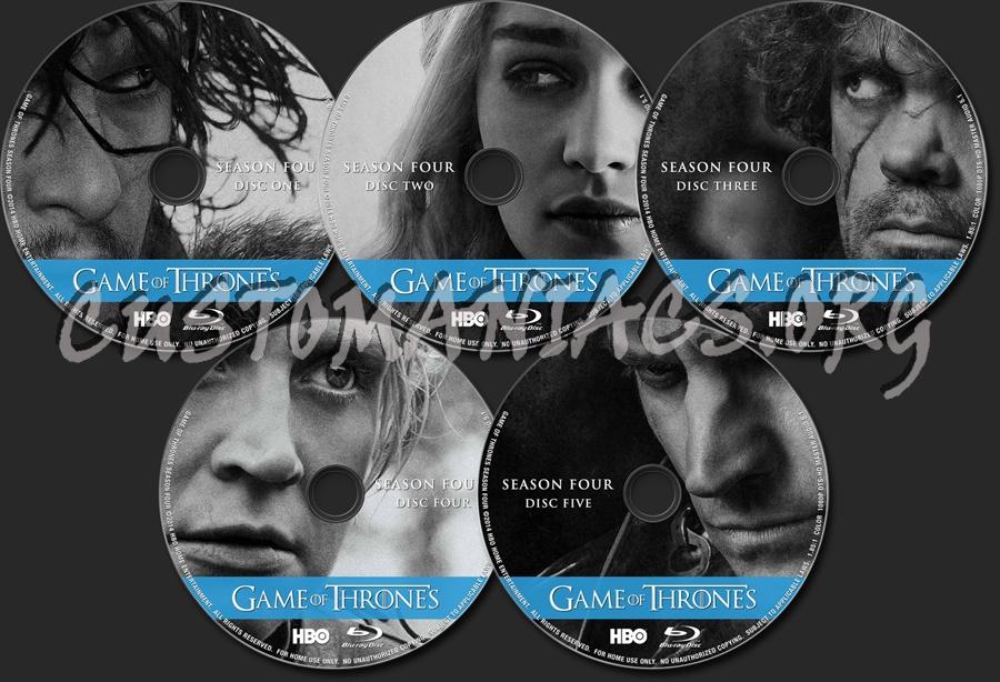 Game of Thrones Season 4 blu-ray label