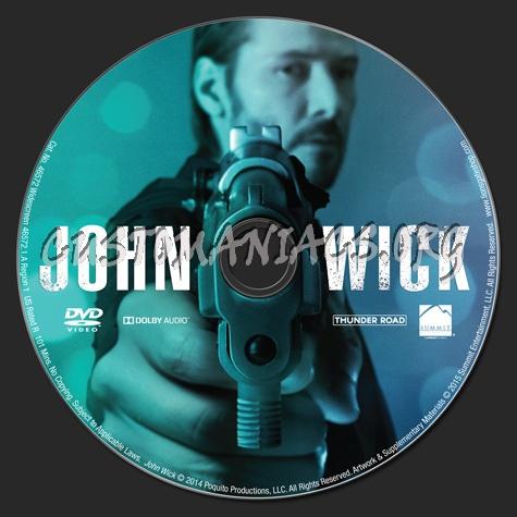 John Wick dvd label