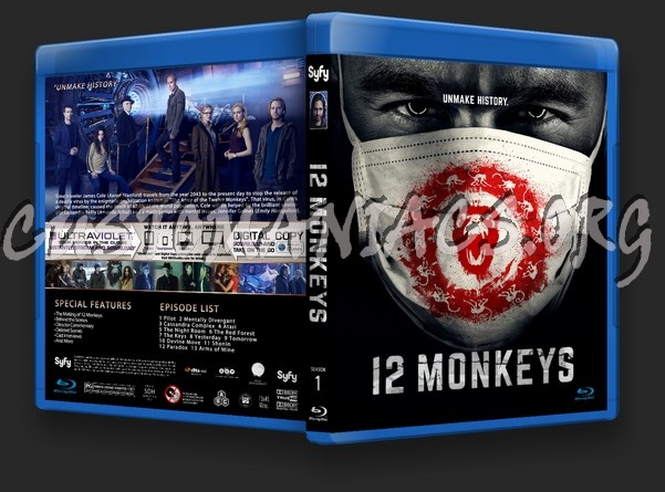 12 Monkeys Season 1 blu-ray cover