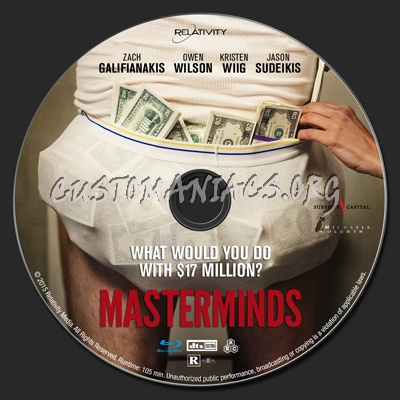 Masterminds blu-ray label