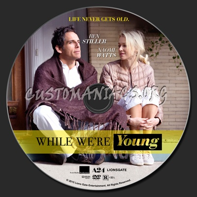 While We're Young dvd label