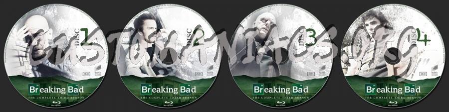 Breaking Bad Season 3 blu-ray label