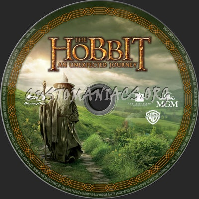 The Hobbit: An Unexpected Journey blu-ray label