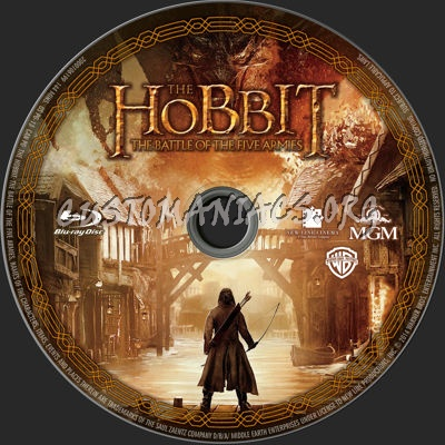 The Hobbit: The Battle of the Five Armies blu-ray label