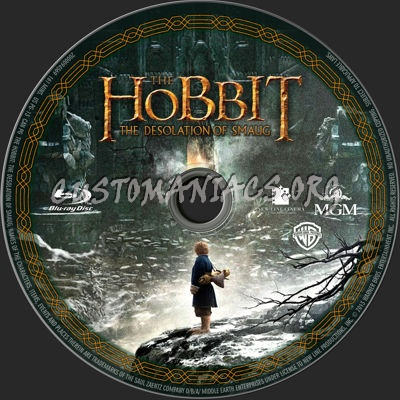 The Hobbit: The Desolation Of Smaug blu-ray label