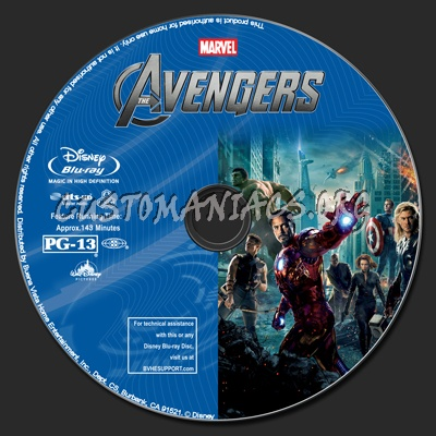 The Avengers (2D+3D) blu-ray label