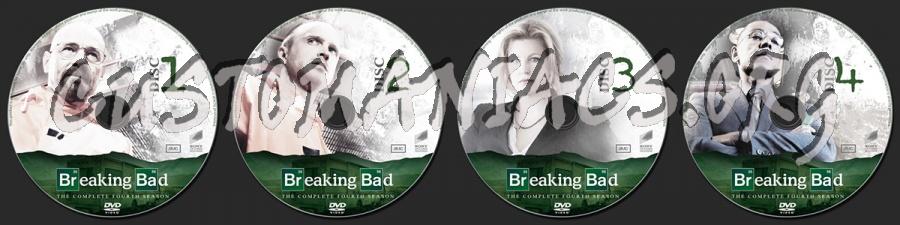 Breaking Bad Season 4 dvd label