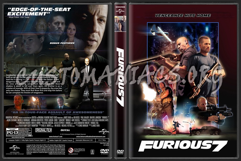 furious 7 aka fast furious 7 dvd cover dvd covers labels by customaniacs id 224466. Black Bedroom Furniture Sets. Home Design Ideas