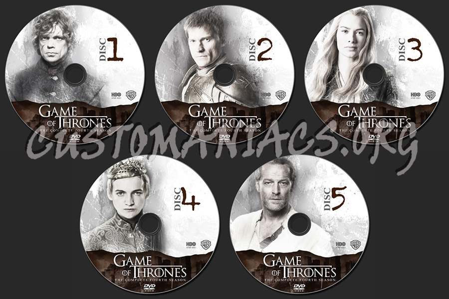 Game Of Trone Season 1 Dvd Cover: Game Of Thrones Season 4 Dvd Label