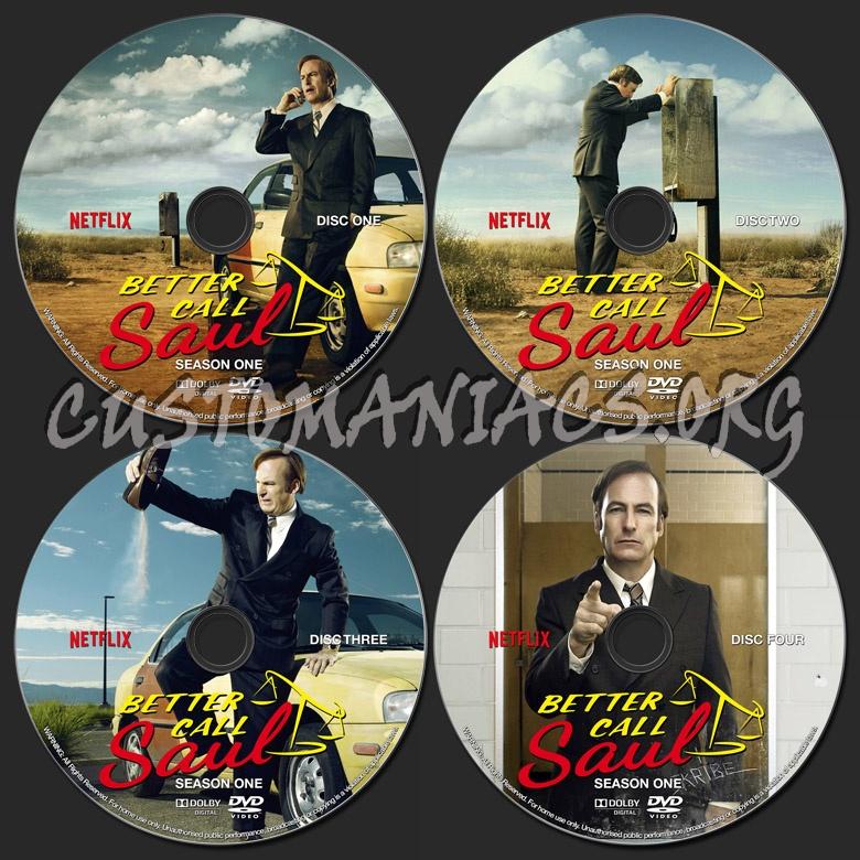 Better Call Saul Season One dvd label