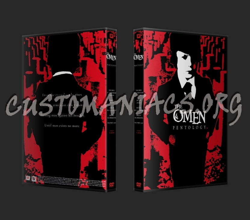 The Omen Pentology (20mm Spine) dvd cover - DVD Covers & Labels by ...