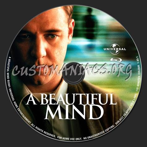 A Beautiful Mind Blu Ray Label