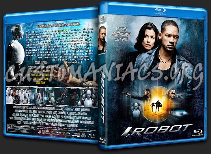 I, Robot blu-ray cover