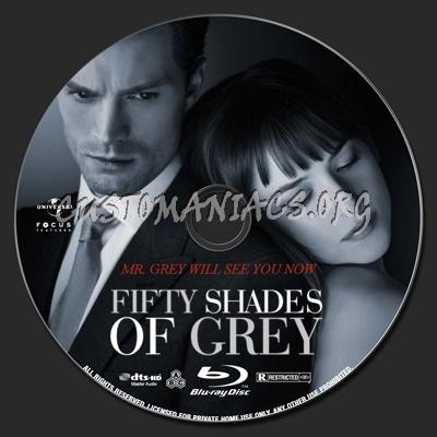 Fifty Shades of Grey blu-ray label